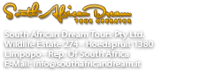 South African Dream, i tuoi viaggi in Sudafrica